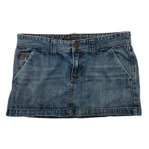 Abercrombie & Fitch Jean Denim Mini Skirt 6